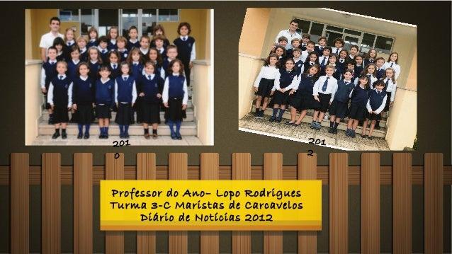 201                                2010                                  2Professor do Ano– Lopo RodriguesTurma 3-C Marist...