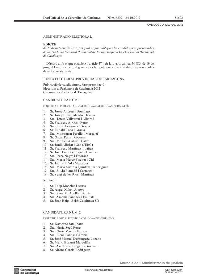 Candidatures tarragona