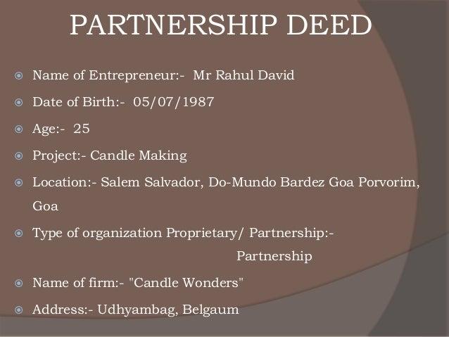 Business plan for partnership