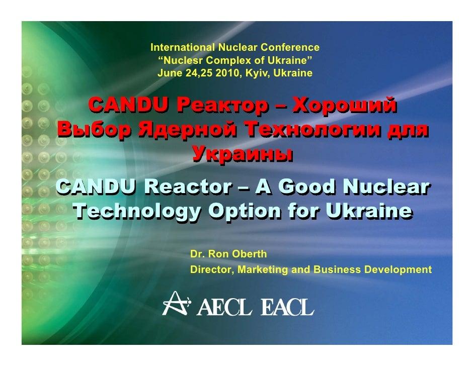 CANDU in Ukraine 2010
