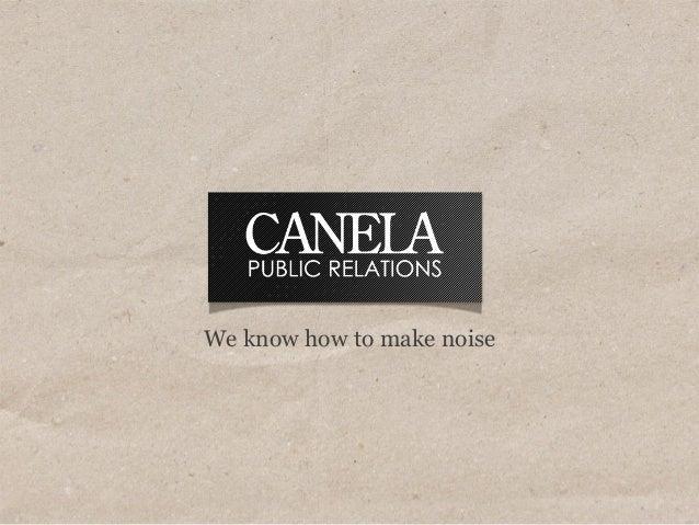 Canela credentials december 2013