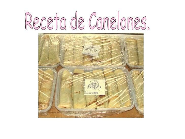 Receta de Canelones.<br />
