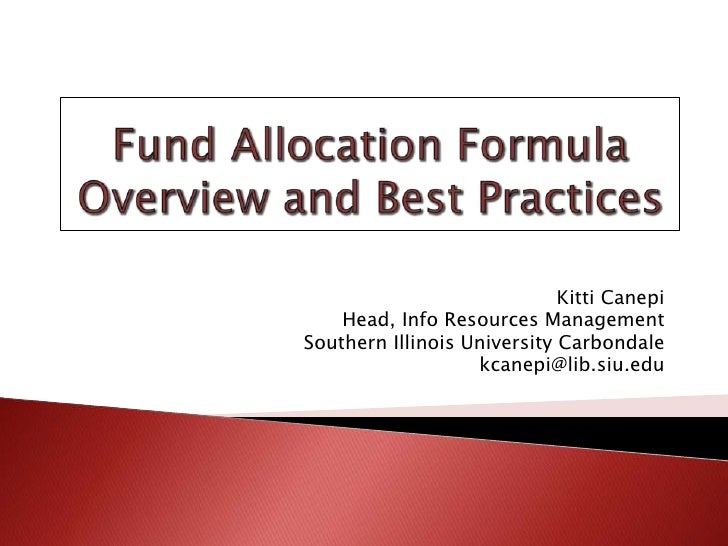 Fund Allocation Formula Overview and Best Practices
