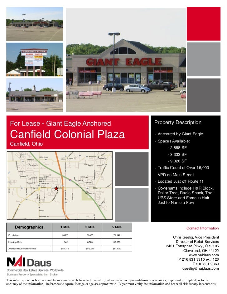For Lease - Giant Eagle Anchored                                                                           Property Descri...
