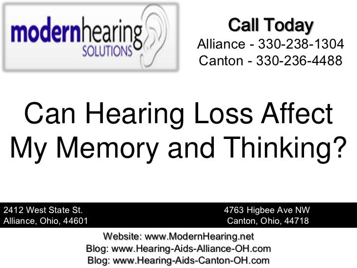 Can Hearing Loss Affect My Memory and Thinking?