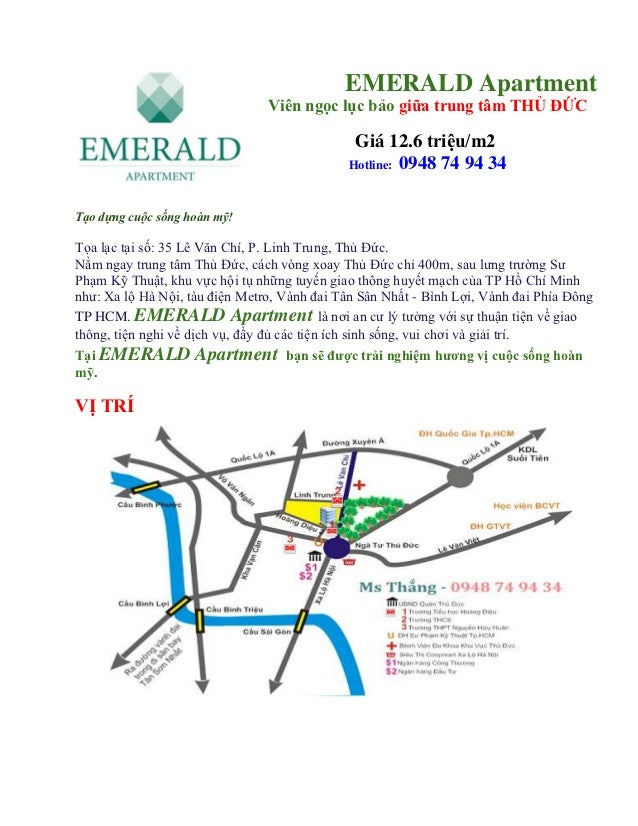 EMERALD Apartment                                Viên ngọc lục bảo giữa trung tâm THỦ ĐỨC                                 ...