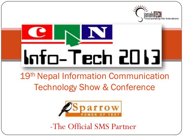 19th Nepal Information Communication    Technology Show & Conference       -The Official SMS Partner