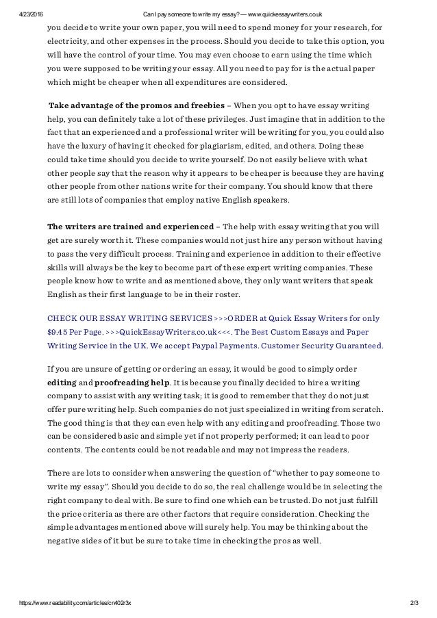 pay people to write essays How can i ensure that i get the best essay writing assistance are you a student having a hard time completing his or her assignment within the time prescribed by your instructor have you.