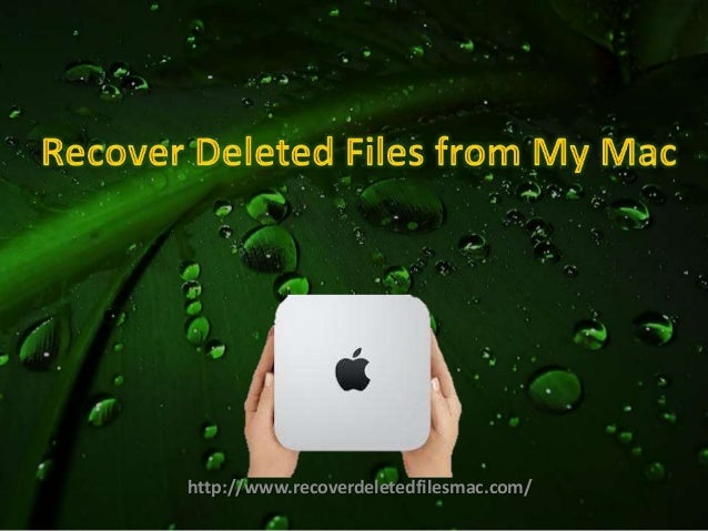 Can I Recover Deleted Files from My Mac Computer without Losing any Data?