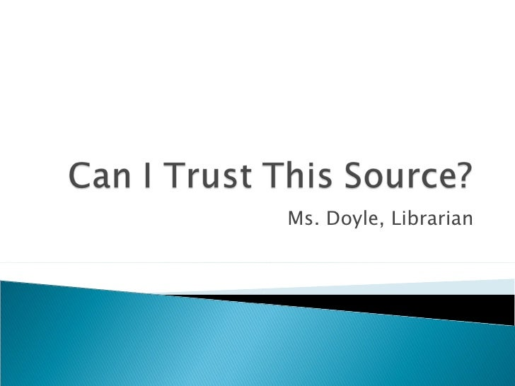 Can I trust this source no tree oct