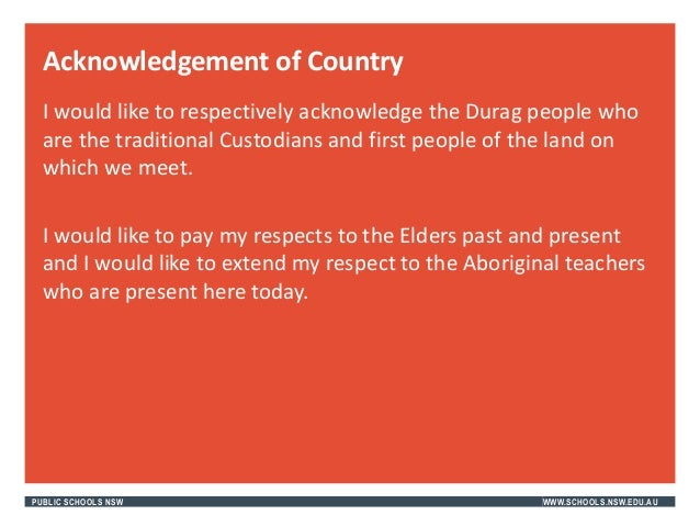 aboriginal welcome to country guidelines