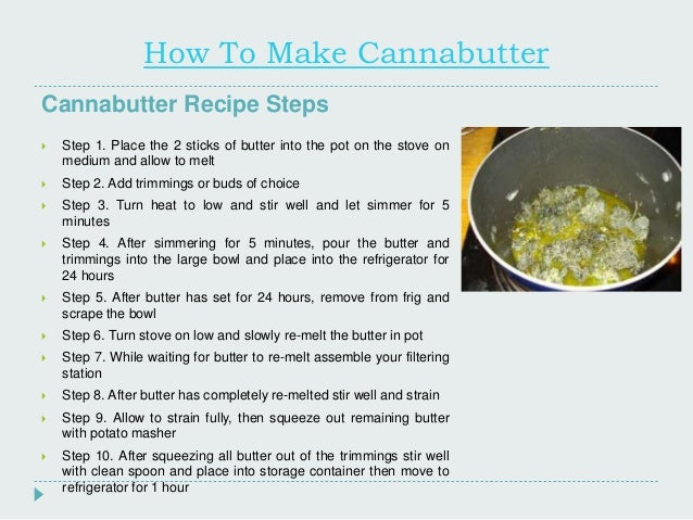How to Make Marijuana Butter
