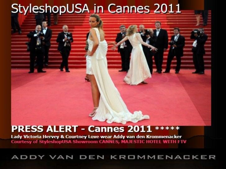 Philips 3D Sponsors Designer Sir Addy van den Krommenacker Film & Live Fashion Show  FTV 2011 -  Majestic Hotel,  Cannes. Producer: Jane S. Linter, for  SZTV LA