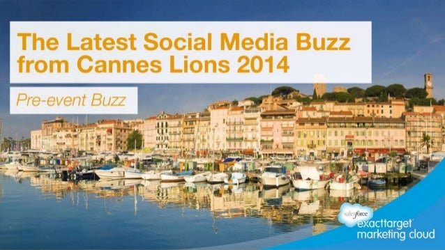 Pre-event Social Media Report for Cannes 2014