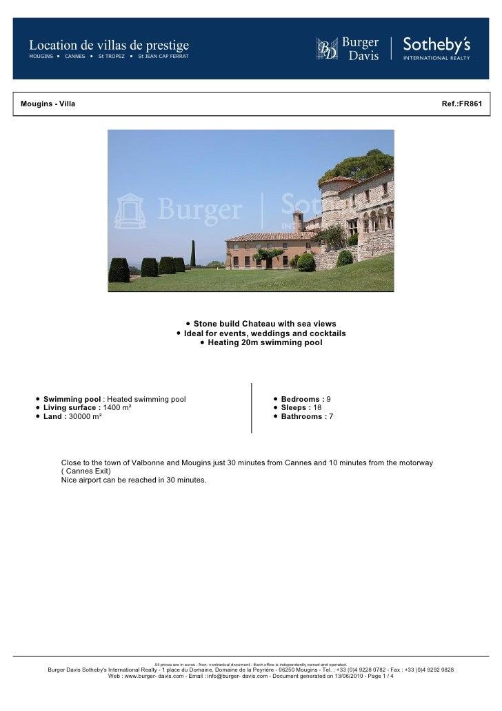 Mougins - Villa                                                                                                           ...