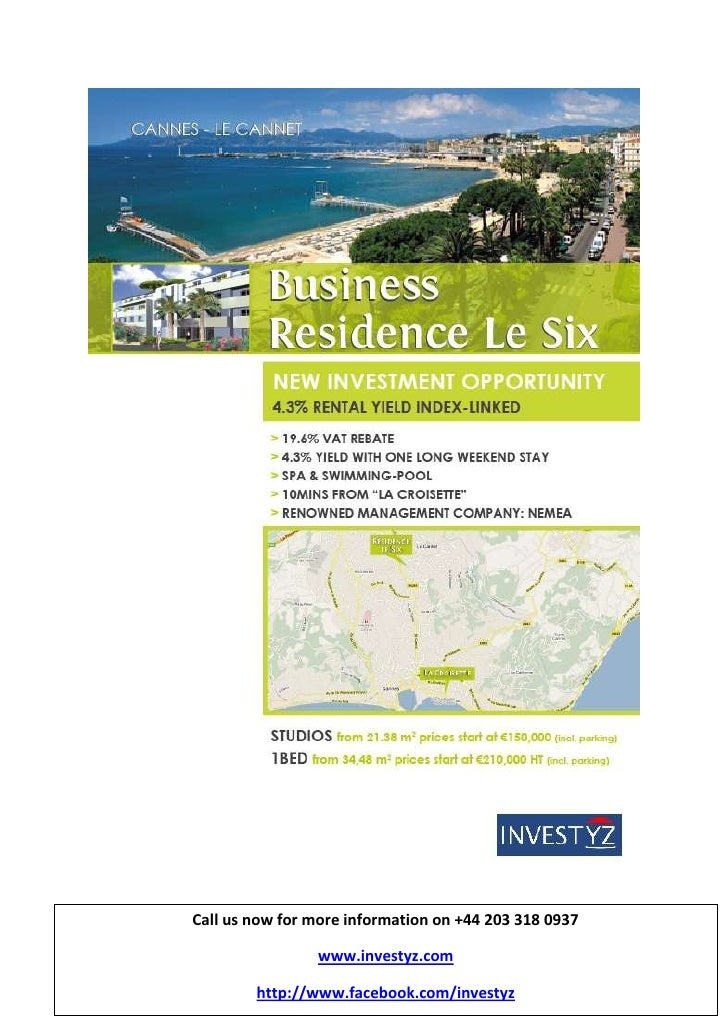 -3524258477250Call us now for more information on +44 203 318 0937www.investyz.comhttp://www.facebook.com/investyzCall us ...