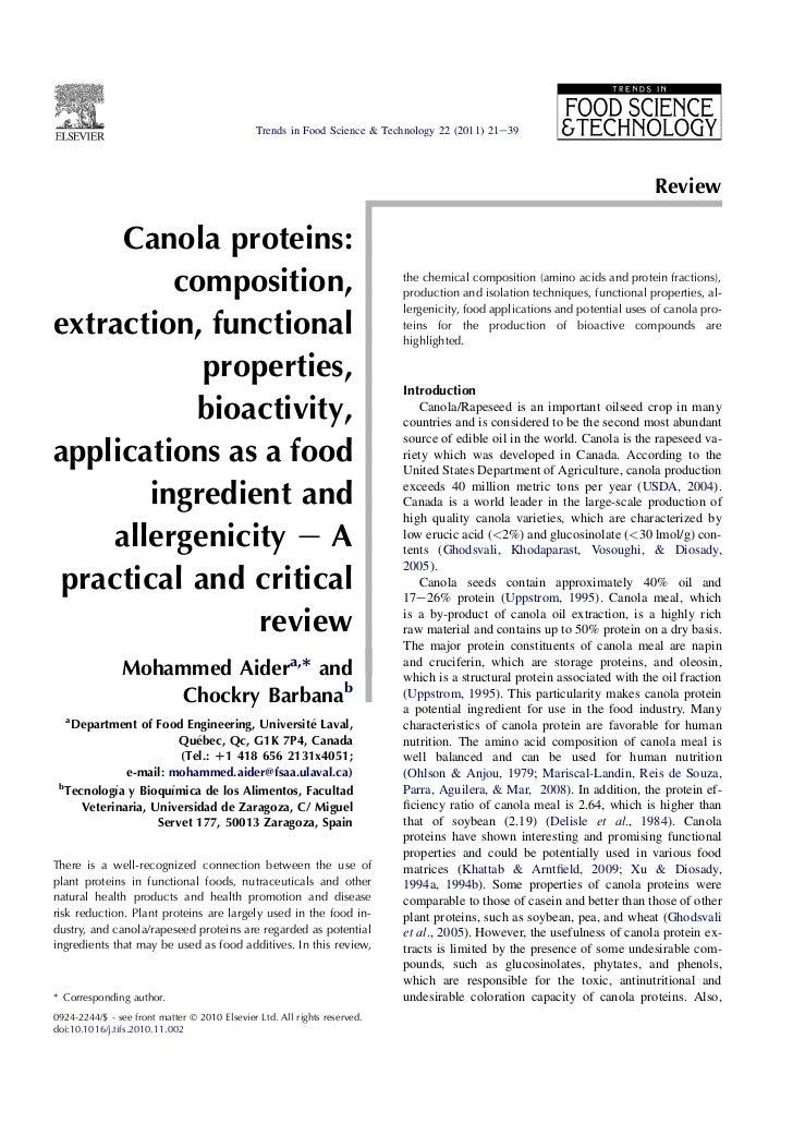 Canola protein