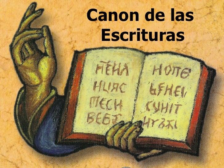 Canon de las Escrituras