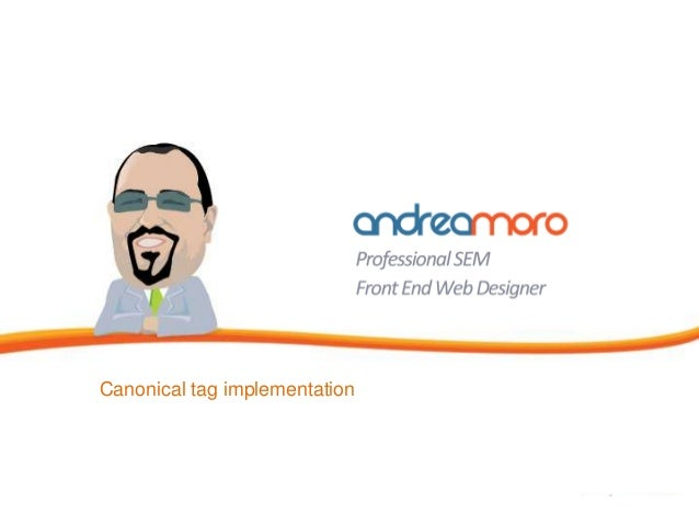 Canonical tag implementation
