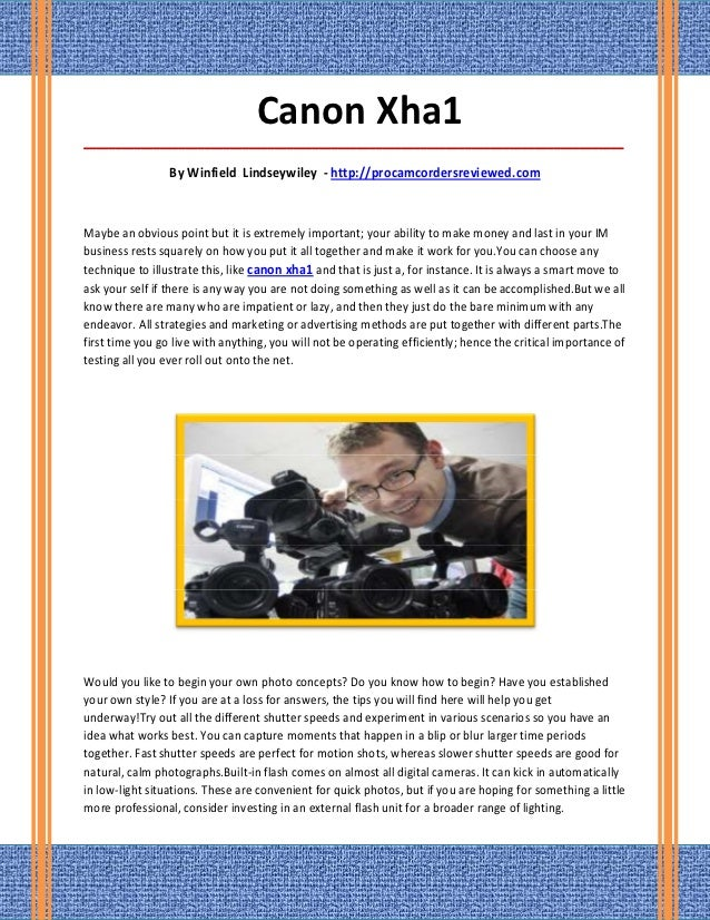 Canon Xha1_____________________________________________________________________________________                 By Winfiel...