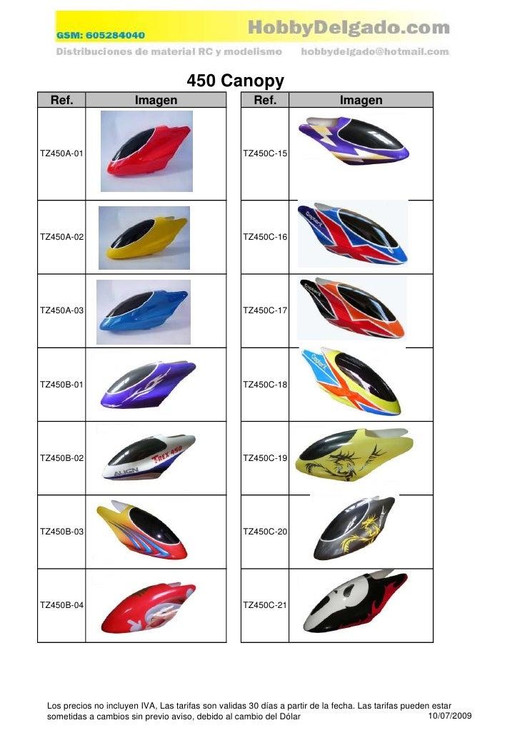 450 Canopy   Ref.                 Imagen                          Ref.                  Imagen    TZ450A-01               ...