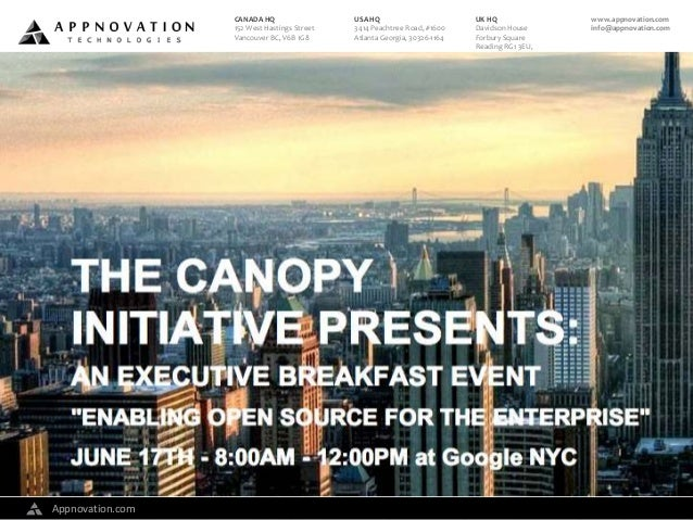 Enabling Open Source for the Enterprise Breakfast Event in NYC - June 17, 2014