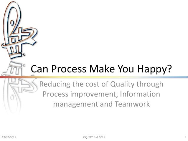 Can process make you happy - Unicom conference