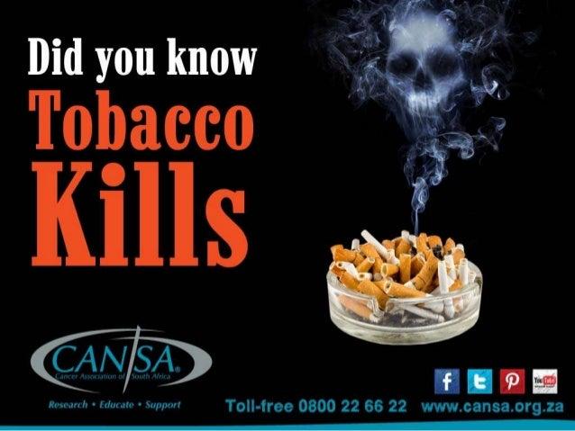 CANSA No Tobacco campaign 2014
