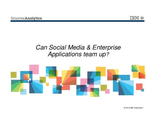 Can Social Media & Enterprise Applications team up?