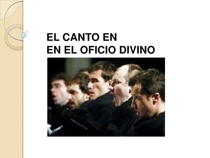 EL CANTO EN<br />EN EL OFICIO DIVINO<br />