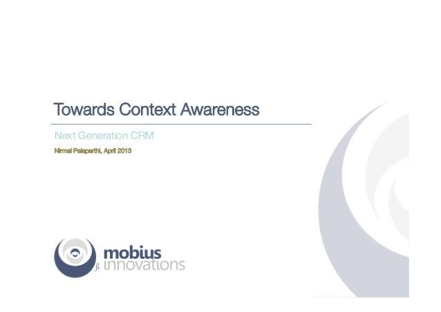 Towards Context Awareness