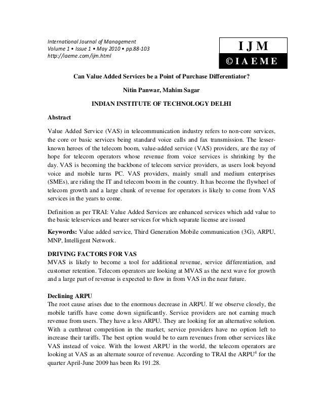 International Journal of ManagementVolume 1 • Issue 1 • May 2010 • pp.88-103                                  IJMhttp://ia...