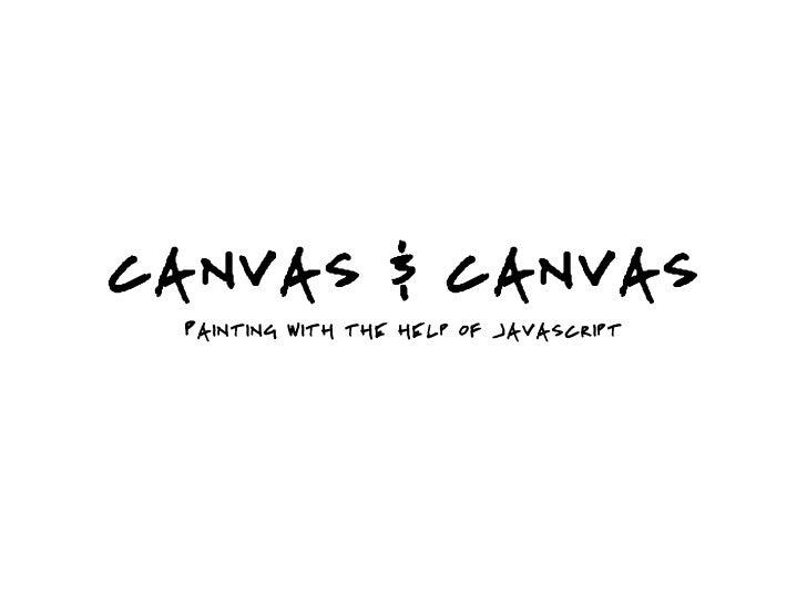 Canvas & Canvas - Presentation to NYC.js