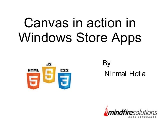 canvas in action in windows store app