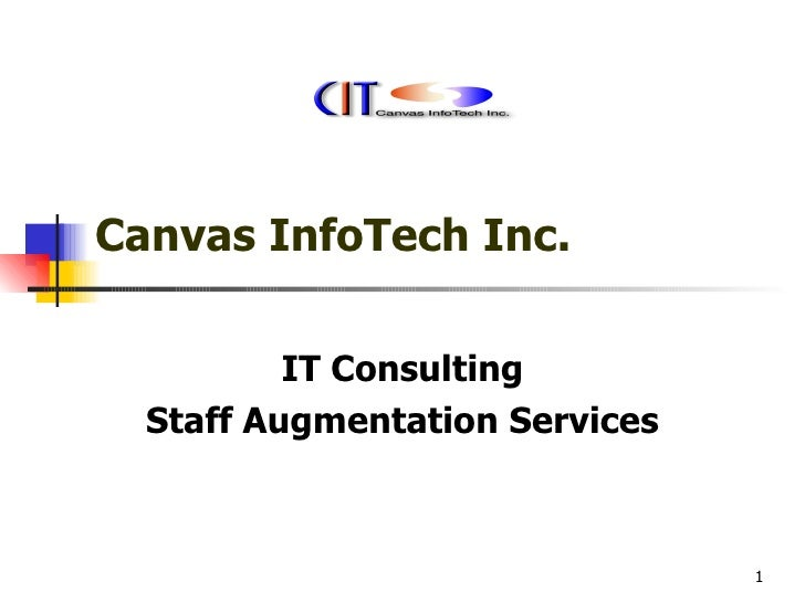 Canvas InfoTech Inc. IT Consulting Staff Augmentation Services