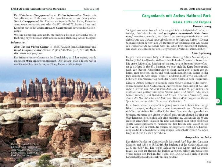 Grand Staircase-Escalante National Monument                Karte Seite 339                                                ...