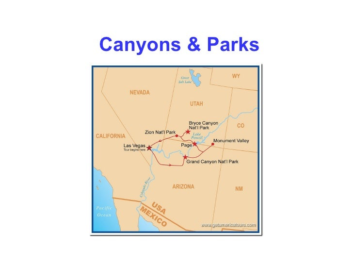Escorted bus tours from Las Vegas to Grand Canyon, Monument Valley, Bryce Canyon and Zion N.P.