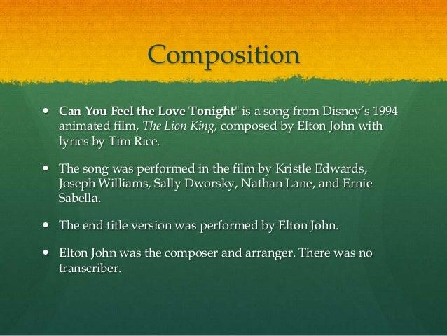 Can You Feel the Love Tonight Lyrics - songtexte.com