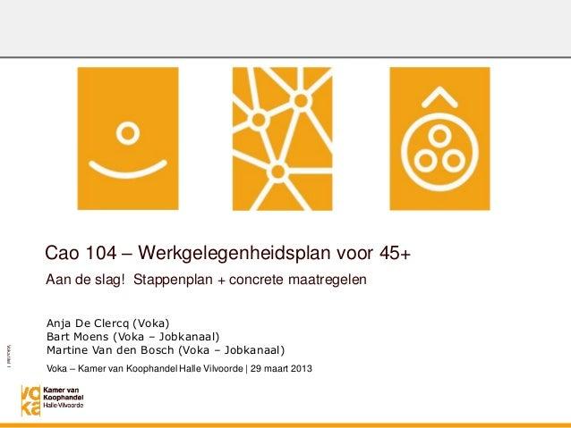 Verplicht werkgelegenheidsplan 45+: stappenplan en maatregelen