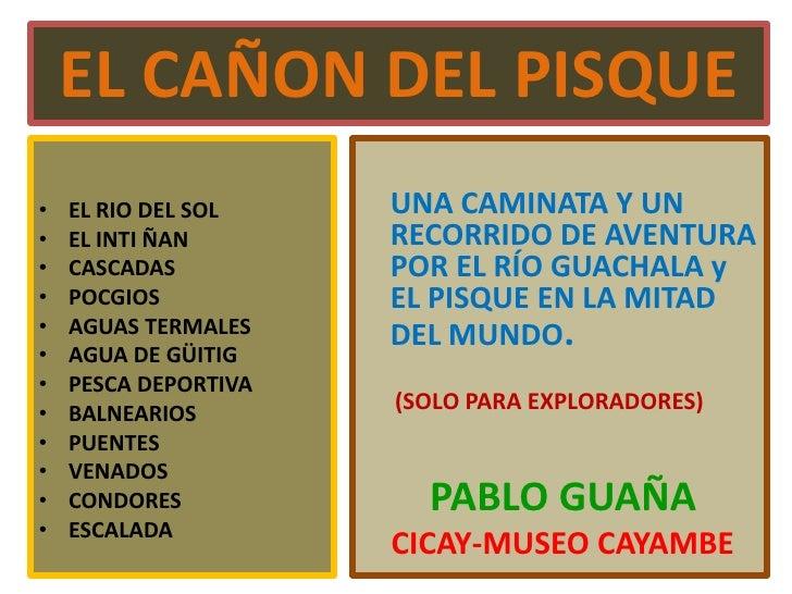 Cañón Del Pisque - Pablo Guaña