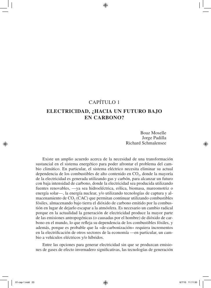 Capítulo 1       ElEctricidad, ¿hacia un futuro bajo                  En carbono?                                         ...