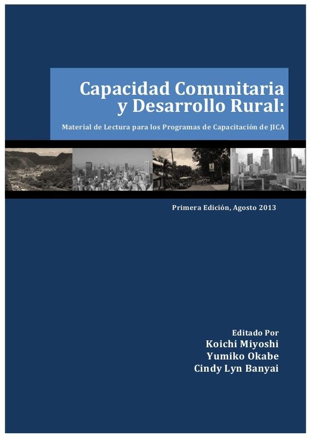 Capacidad  Comunitaria      y  Desarrollo  Rural:   Material  de  Lectura  para  los  Programas  ...
