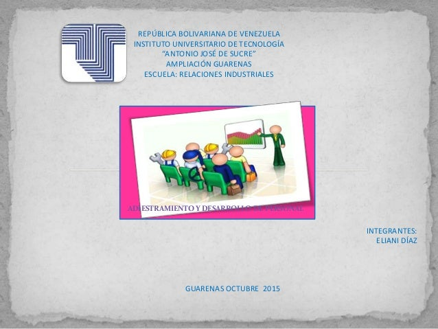 """REPÚBLICA BOLIVARIANA DE VENEZUELA INSTITUTO UNIVERSITARIO DE TECNOLOGÍA """"ANTONIO JOSÉ DE SUCRE"""" AMPLIACIÓN GUARENAS ESCUE..."""