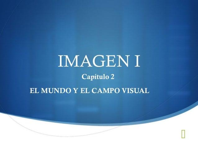IMAGEN I           Capítulo 2EL MUNDO Y EL CAMPO VISUAL                             