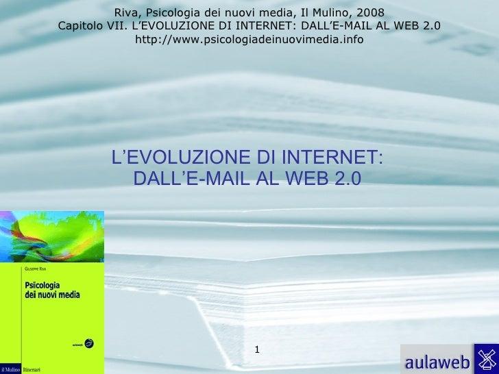 7. L'EVOLUZIONE DI INTERNET: DALL'E-MAIL AL WEB 2.0