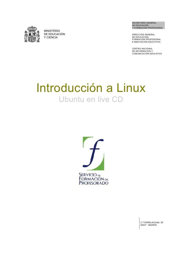 Cap01. Introducción a Linux Ubuntu en live CD