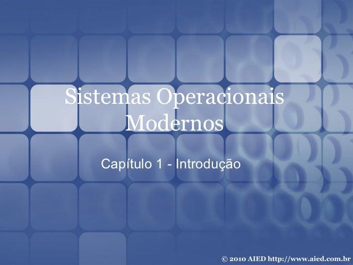 Tanenbaum Sistemas Operacionais Cap 01
