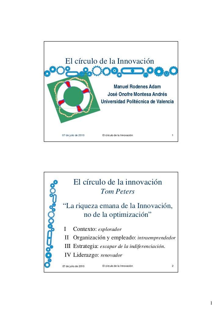 El círculo de la Innovación                            Manuel Rodenes Adam                         José Onofre Montesa And...