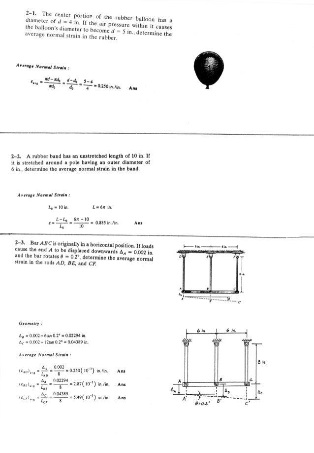 Resistência dos Materiais - Hibbeler 5ª Ed.Cap02 - Exercícios resolvidos