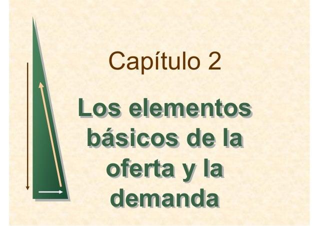 Capítulo 2 Los elementos básicos de la oferta y la demanda